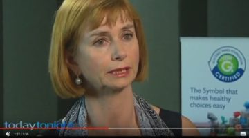 Screenshot: Prof. Jenny Miller from University of Sydney in Channel 7