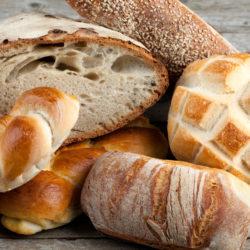 Mix of Italian breads fresh baked.