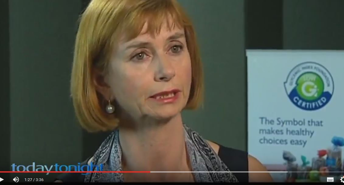 Screenshot: Prof. Jenny Miller from University of Sydney in Channel 7