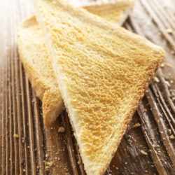 Slices of toastad bread